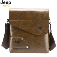 JEEP BULUO Man Messenger Bag PU Leather Male Shoulder Bags Famous Brand Fashion Casual Business Men