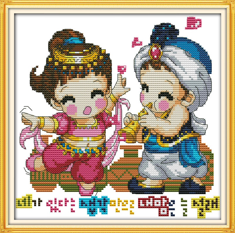 Love melody, counted printed on fabric DMC 14CT 11CT Cross Stitch kits,embroidery needlework Sets Home Decor