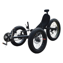 Drie Wheeler Fat Tire Ligfiets Trike(China)