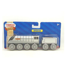 ФОТО w98 thomas and friends wooden magnetic locomotive spencer + trailer kids orbital toys boutique gift box  fit thomas track brio