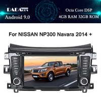 Radio Multimedia con GPS para coche, Radio con reproductor dvd, Android 9,0, 2 din, navegador, estéreo, px5, para NISSAN NP300, Navara 2014