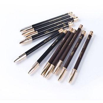 5 PCS Fashion Black Brown Eyeliner Pencil Dual Use Waterproof Long Lasting Eyeliner Pen Cosmetic Beauty Makeup Tool for Women Makeup