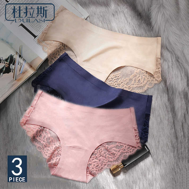52681091d35 Sexy Panties Underwear Women Seamless Lace Ice Silk Panties Sexy Underpants  Cute Lingerie Cotton Briefs Bikini