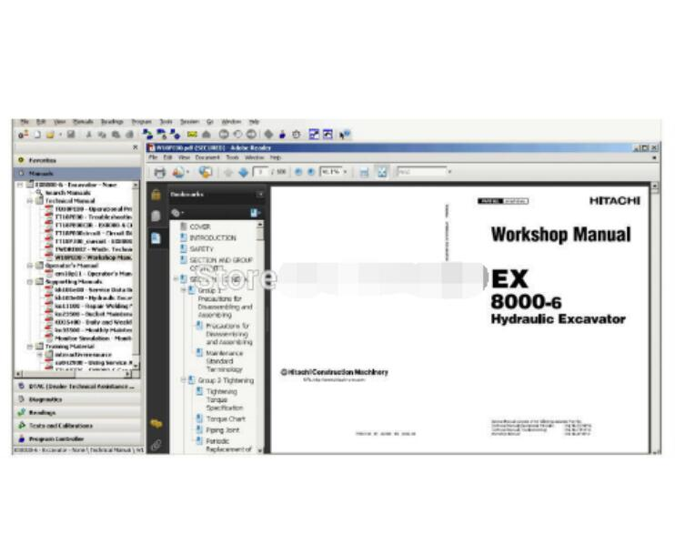 Для HITACHI вилочный погрузчик EPC parts MANAGER PRO EX200 3 каталог запасных частей EPC Hitachi руководства по ремонту