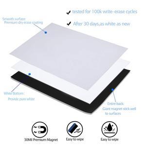 Image 4 - A3 magnético seco wipe quadro branco para geladeira adesivo 5 marcadores finos 1 eliminador geladeira ímã organizador planejador lembrete placa