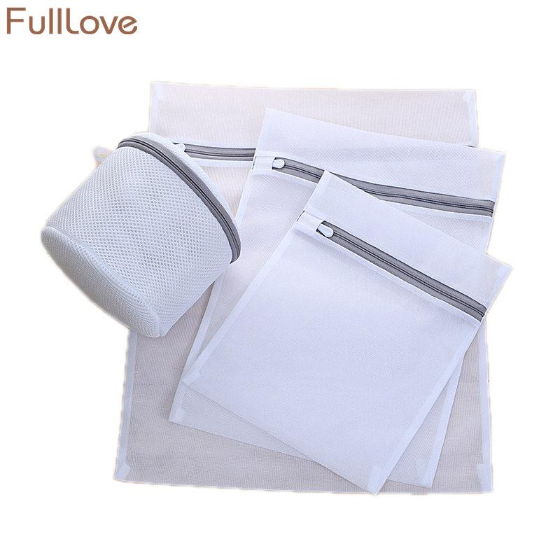Mesh Laundry Bags For Washing Machines Thick Underwear Bra Socks Washing Bag Zipper Storage Bag Laundry Storage & Organization