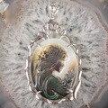 36X56 MM Madre de Concha de Perla Sirena Belleza Oval Grano de la Aleación Colgante 1 UNIDS