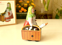 Retro Clockwork Tin Toys Women S Classic Clockwork Tin Women Dress Mention The Goose Basket Collection