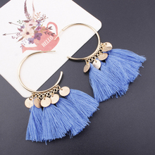 KLEEDER 2019 Bohemian Ethnic Sequins Tassel Drop Earrings for Women Fashion Jewelry Dreamatcher Boho Wedding Earring oorbellen