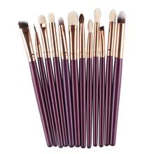Stylish 2016 12pcs Makeup Brush Set Synthetic Brushing Brush Professional Cosmetics Makeup Foundation Powder Blush Eyeliner AU17