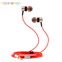 Boarseman KR25D Wired Earphone HiFI In Ear Super Bass Earbuds Sport Fever Metal Earphones For IPhone