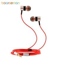 Boarseman KR25D Wired Earphone HiFI In Ear Super Bass Earbuds Sport Fever Metal Earphones For IPhone