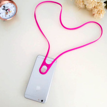 ФОТО Cell Phone Lanyard Neck Strap Leash for iPhone 6 6s 7 8 5 5s 5c plus Samsung Android Smartphones Detachable Retractable Silicone