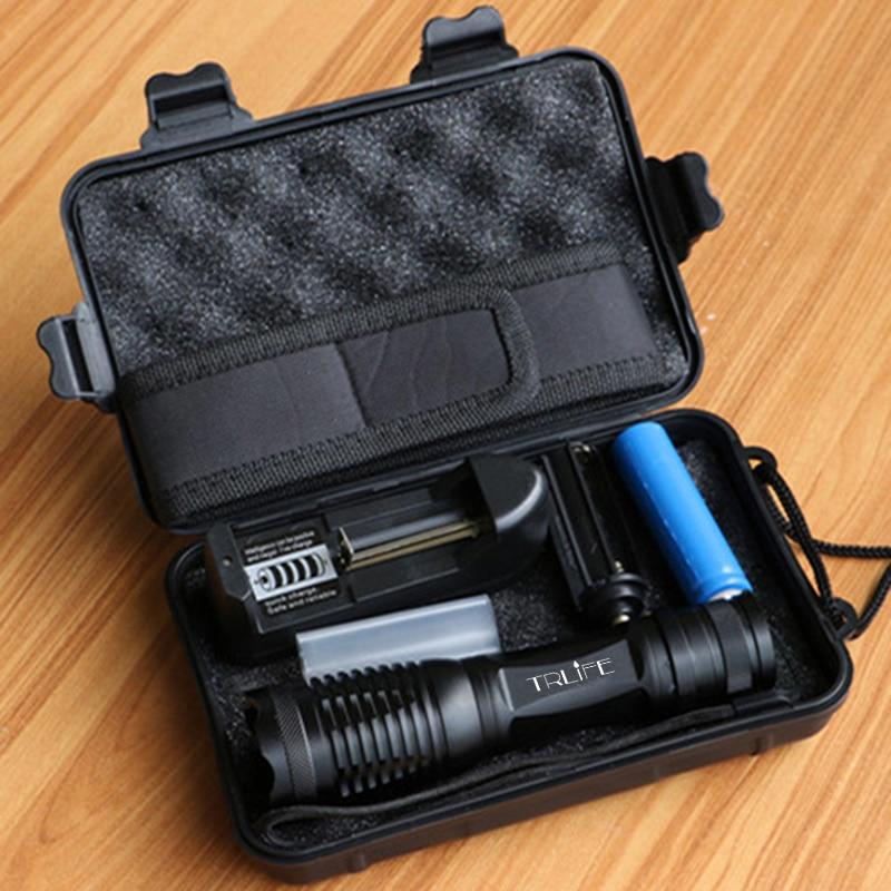 10000 lumen LED Taschenlampe T6/L2/V6 Taktische Taschenlampen Led-taschenlampe Zoomable Flash Licht + 18650 Batterie + ladegerät + Holster + Geschenk Box