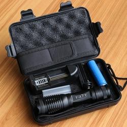 Lanterna recarregável led xml t6/l2/v6 linterna tocha 18650 bateria 5 modos de acampamento ao ar livre à prova dwaterproof água poderosa lanterna led