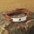 OM pulseira, pulseira envoltório yoga jóias, om, personalizado mensagem secreta yogo pulseira