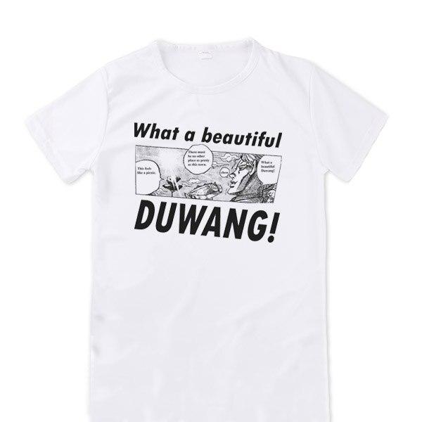 [XHTWCY]  Men's Duwang T Shirt Autumn High Quality Beautiful Man JoJo Bizarre Adventure T Shirt