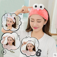 Korean Hairband Hairband Wide Border Ribbon Rabbit Ear Ear Headband Hairpin Hairpin Women Pressure Hair Hood