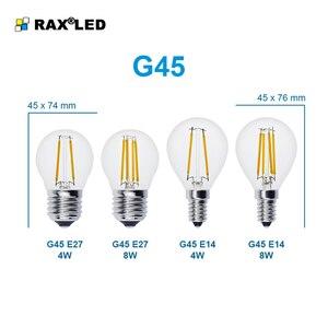 Image 4 - Lampada E27 LED Filament Light Dimmable Glass Blub Lamps 220V LED Edison chandelier E14 G45 240V Vintage Led Bulb 4W 8W 12W