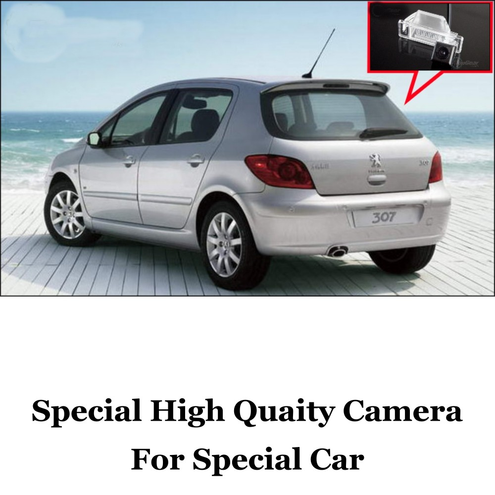 Car Camera For Peugeot 307 Hatchback  307cc 2001~2014 High Quality Rear View Back Up Camera For Fans Use  CCD + RCA Car