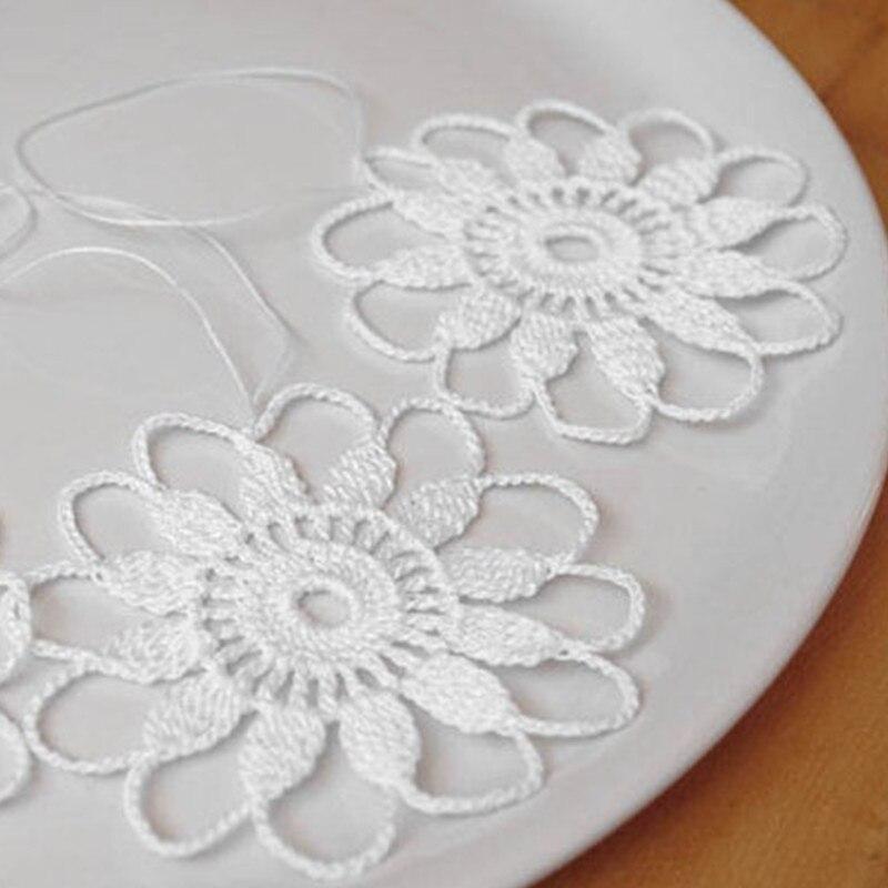 Crochet Blanco copo de nieve ornamento Colgante flor de invierno ...