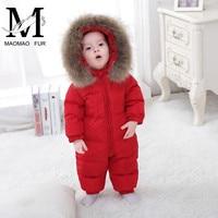Зимние Детские пуховые пальто для мальчиков куртка для девочек на утином пуху уличная одежда для младенцев Детский спортивный костюм детск