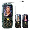 DBEIF D2016 Двойной фонарик FM волшебный голос изменение 13800 мАч mp3 mp4 power bank Антенн Аналогового ТВ Прочный мобильный телефон сотовый P242