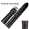 Butterfly clasp Newly Design Sporting Goods High Quality Soft Sweatband Faux Leather watch Strap Steel Wrist Watch Band