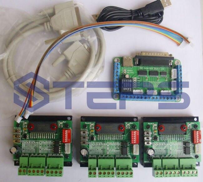 CNC 3 Axis TB6560 3.5A Stepper Motor Driver Controller Board Kit new high quality cnc 3 axis tb6560 stepper motor driver board control pad lcd set hy tb3 kh