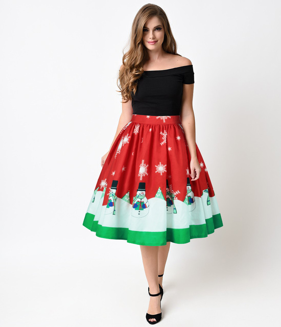 Belva Women Christmas Clothing Gifts Autumn Maternity Dress Digital  Printing Christmas dresses Pleated Skirt Xmas Suits - Belva Women Christmas Clothing Gifts Autumn Maternity Dress Digital
