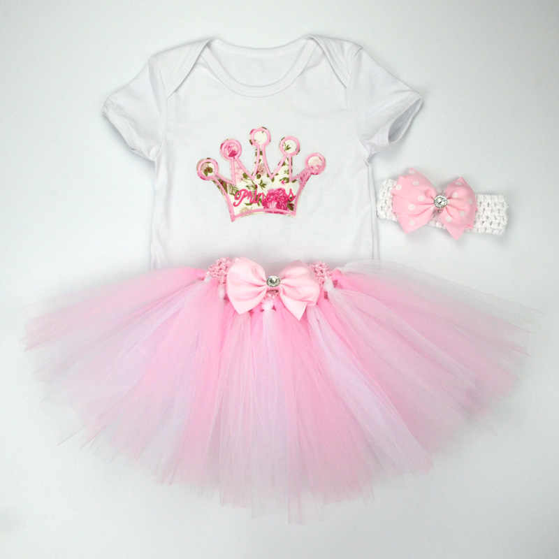 4c188e1a8be9c ... Christmas Baby Girl 3pcs Clothing Sets Infant Cotton Romper+Tulle  Skirt+Headband 3pcs Outfits ...