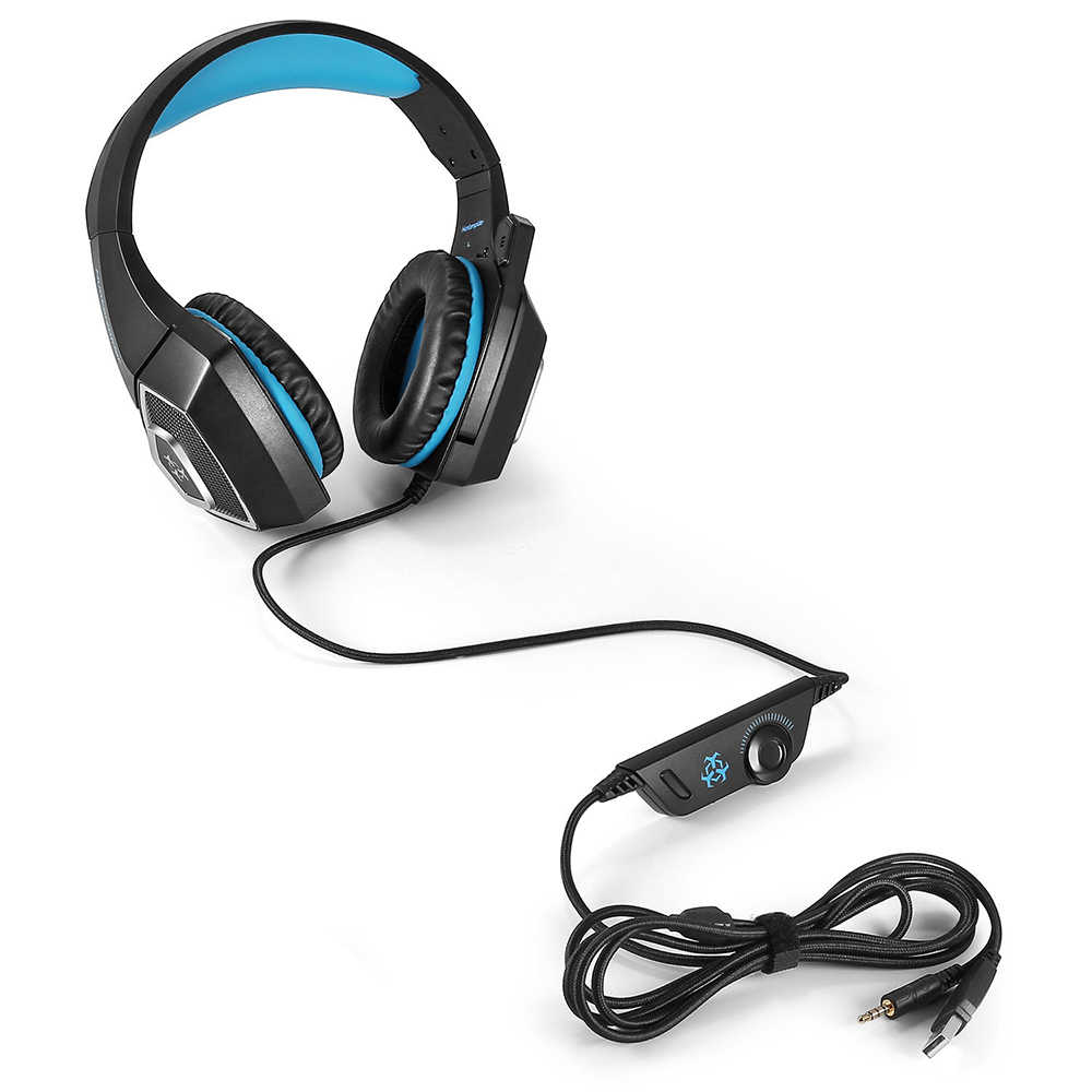 Hunterspider V1 Wired Gaming Headset 7 Color Led Lights Low Distortion With Mute Button Volume Control Microphone For Ps4 Pc Aliexpress