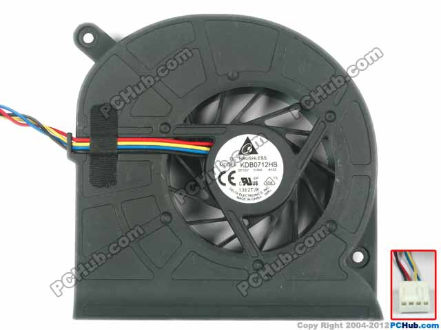 Free Shipping For Delta KDB0712HB, -A102 DC 12V 0.45A 3-wire 3-pin Server Laptop Fan