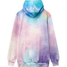 Women Tie Dye Color Hoodie 2017 Winter 3D Printed Sweatshirt Casual Plus Size Top Pink Loose Galaxy Pattern Oversized Pullover
