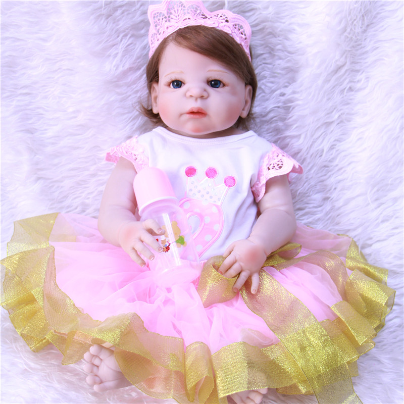 Lifelike Silicone Reborn Baby Menina Alive 23 Newborn Baby Dolls Full Vinyl body Wear bebe Infant Clothes Truly Kids PlaymatesLifelike Silicone Reborn Baby Menina Alive 23 Newborn Baby Dolls Full Vinyl body Wear bebe Infant Clothes Truly Kids Playmates