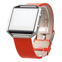 Fitbit Blaze Bands Leather Orange Torotop Genuine Leather Bracelet Strap Replacement Band For Fitbit Blaze Smart Fitness Watch