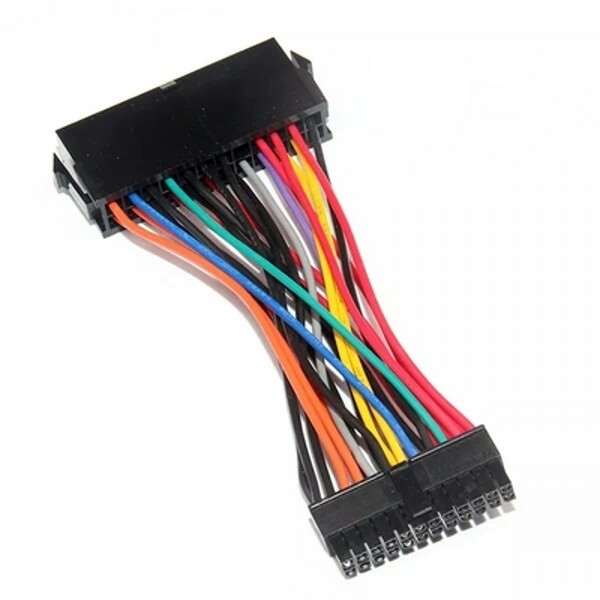 10CM ATX Power Supply Motherboard 24 Pin to Mini 24 Pin Cable wiring