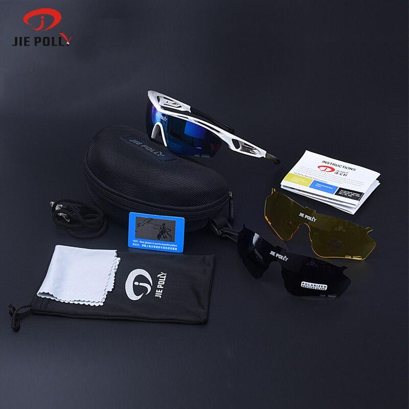 Цена за Jiepolly Поляризованный Велоспорт Очки Очки Out door Спортивные Очки MTB Езда На Велосипеде Очки очки Gafas Cicismo 8 Цвет