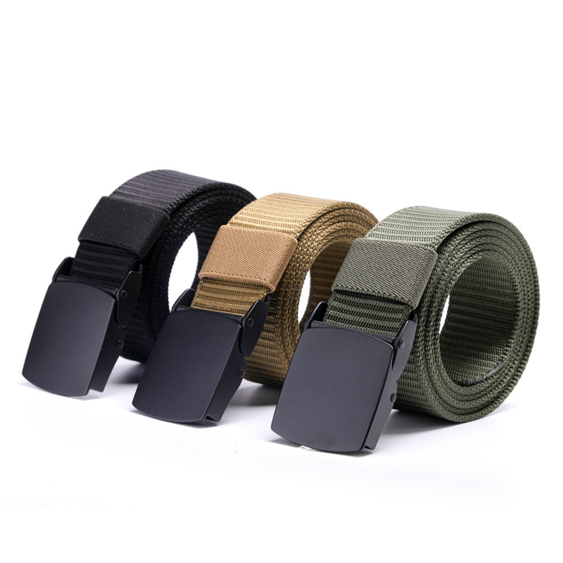Alloy Buckle Men And Women Breathable Tactical Belt Military Nylon Waist Support Strap Sports Hunting Training Hiking Belts 3.8c