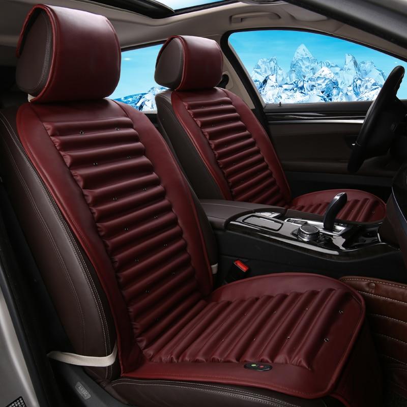 Fan Ventilation Car Seat Cover Car Cushion For Hyundai i30 ix35 ix25 Elantra Santa Fe Sonata Tucson 2016 Solaris Veloster Accent