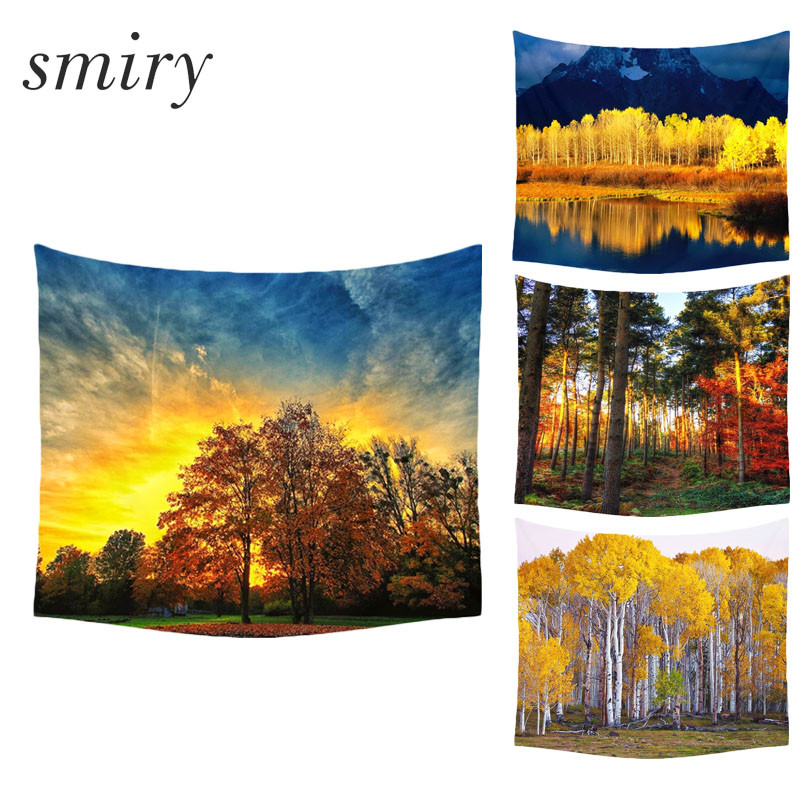 Smiry Brand Tapestry Gorgeous forest scenery Beautiful Wall Art Tapestry 130cmx150cm Europe Livingroom Modern Decorative