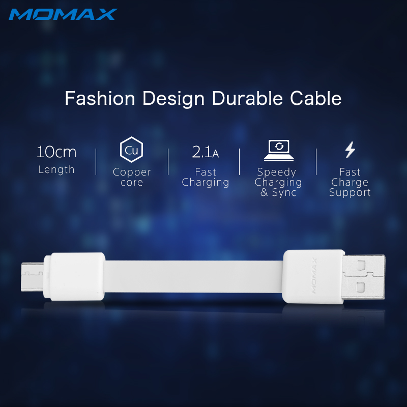 Momax Short High Speed Type C to USB A Male Cable for Samsung Xiaomi Mi6 Reversible Connector 10cm Charging Data Sync Cables