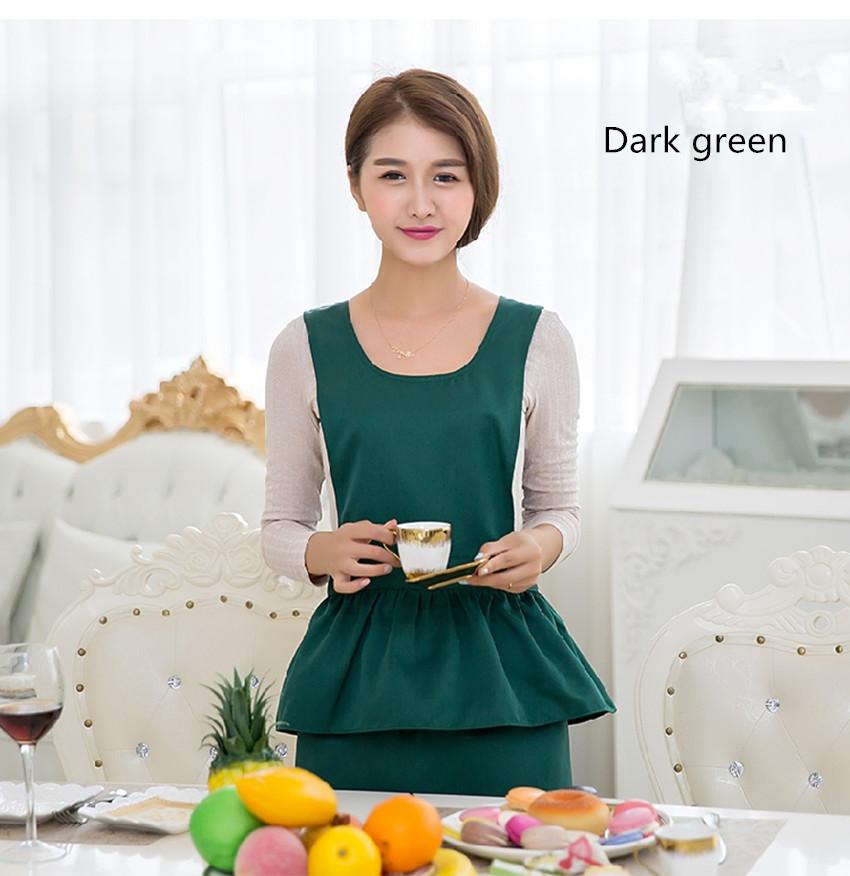Household fashion cleaning kitchen aprons cooking palace maid lovely princess pure color salon - Prinses pure ...