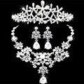Nigerian Wedding African Beads Newly Collar Necklace V Earring Princess Tiara Hairbands Headdress Rhinestone Bridal Jewelry Sets