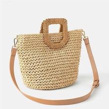 Women Summer Straw Bag Hand Made Rattan Shoulder Boho Travel Shopping Beach The New Basket For Handbags