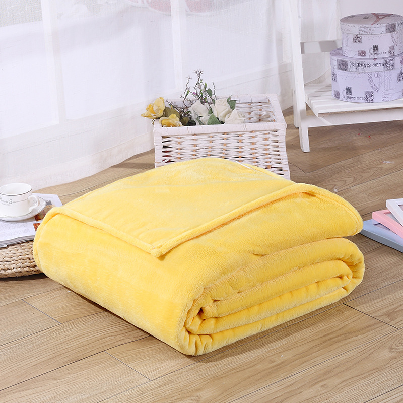 Image 3 - CAMMITEVER Cheap Blanket 100*70cm Fleece Blankets For Bed Throw Blanket Machine Washable Home Textile Solid Blankets for Home-in Blankets from Home & Garden