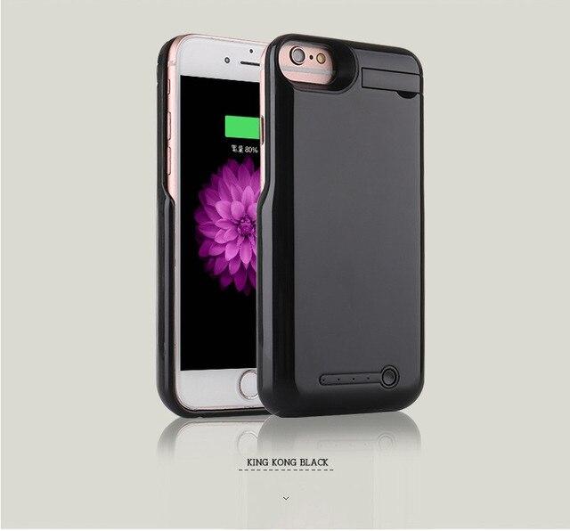 7 Случай Аккумулятор для iPhone 7 Броня Дело Power Bank Назад крышка для iPhone 7 Plus Резервная Батарея Большой Емкости 5000 мАч 8000 мАч