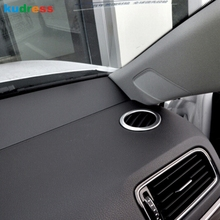 For Volkswagen Jetta 6 Mk 6 2015 2016 abs Matte Interior inner Air Conditioning AC Vent Cover Trim Decorative Outlet Frame 2PCS