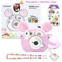 Fujifilm Instax Мини фотоаппарат Мгновенной Печати ЦУМ Подарочный набор с 10 листов мультфильм фотобумаги, подарок для свадьбы День рождения фести