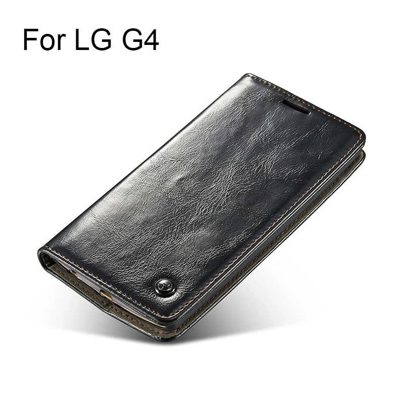 Luxury Original Brand For Flip Cover LG G4 Case Genuine Real Leather Wallet Card Holder High